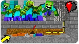 ПОБЕГ из ЗОМБИ ТЮРЬМЫ в МАЙНКРАФТ! КАК ВЫЖИТЬ НУБУ и ДЕВУШКЕ против 100.000 ЗОМБИ В Minecraft? #2