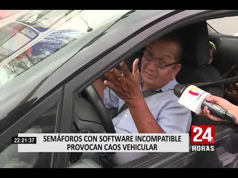 Lima: semáforos con software incompatibles provocan caos vehicular