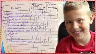 VLOG: Школа - МОИ ГОДОВЫЕ ОЦЕНКИ - 2 класс + ГРАМОТА + Сертификат по математике VLOG 2016