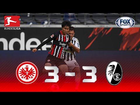 6 GOLS E REAÇÃO INCRÍVEL! Melhores Momentos de Eintracht Frankfurt X Freiburg pela Bundesliga