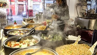 London Street Food from Vietnam. Buffet of the Street Market