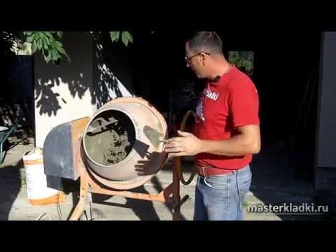 Замес раствора для кладки клинкерного кирпича - [© masterkladki]