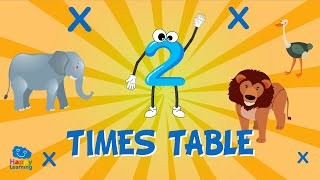 2 Times Table Song: Easy Peasy Maths | Educational Videos for Kids