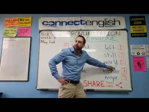 Connect English Pronunciation Telephone, Volume 20 - Pacific Beach Campus