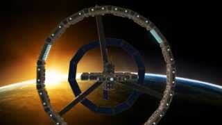 preview picture of video 'rotating space station'