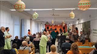 iesta de Navidad con Trio orquesta de baile Solimar , residencia Respir de Llars Mundet Barcelona