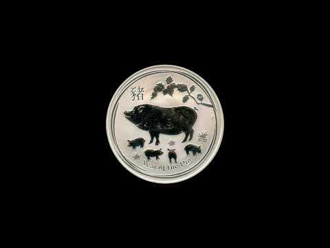 Video - 1/2 oz Lunar II Silber - Schwein - 2019