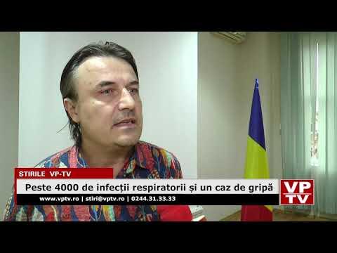 Peste 4000 de infecții respiratorii și un caz de gripă