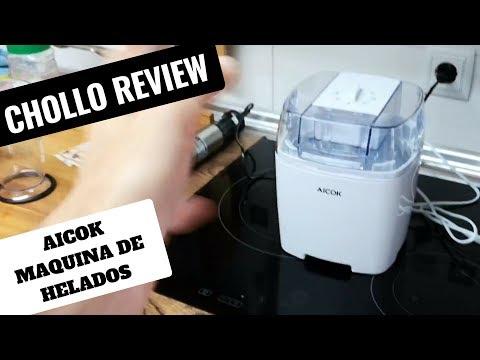 El INVENTO DEL VERANO!❤️ máquina de helados CASEROS Aicok INCLUYE LA RECETA helado de vainilla