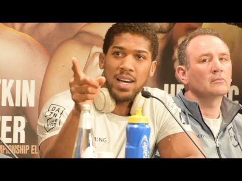 """""""IM NOT HERE TO TAKE PART, IM HERE TO TAKE OVER!"""" - ANTHONY JOSHUA/ANDY RUIZ FINAL PRESSER IN SAUDI!"""