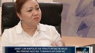 Janet Napoles na umano'y bumuo ng mga pekeng NGO, nagpahayag ng mga kontra-paratang kay Benhur Luy