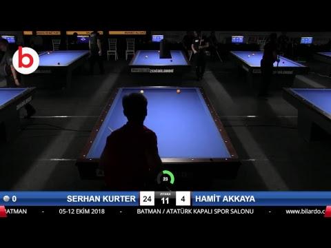 SERHAN KURTER & HAMİT AKKAYA Bilardo Maçı - 2018 ERKEKLER 3.ETAP-3.TUR