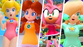 Evolution of Girls in Mario & Sonic at the Olympic Games (2007 - 2018)