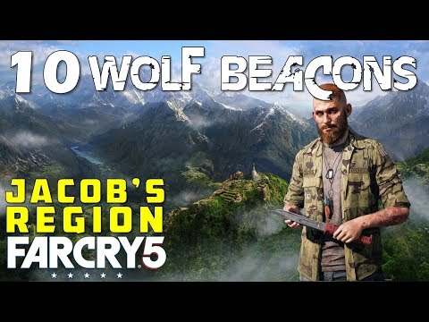Location Of All Wolf Beacons In Whitetail Mountains (Jacob's Region Cult Properties) Far Cry 5