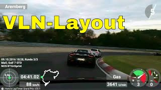 All Stock Golf 7 GTD vs. McLaren 650 S | Nordschleife [VLN-Layout] 09.10.16 | Busy Lap | Crashes