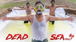 Making Dead Sea With 1000 KG Salt - मृत सागर....😱😱😱