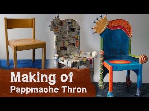Making of - Thron aus Pappmache - Kinderstuhl Transformation