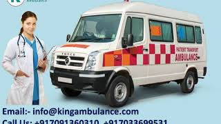 Advanced Road Ambulance Service in Patna and Ranchi by King Ambulance