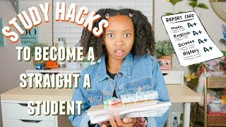 How To Get STRAIGHT As in SCHOOL. Study Hacks