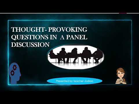 Panel Discussion: Asking thought provoking questions - MELC Based #english7 #teacherjodiaa