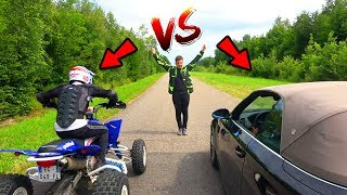 UN 450 QUAD HUMILIE MA BMW ! (COURSE)