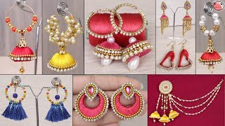 10 Party Wear... DIY Jhumkas !!! How To Make Designer Fancy Earrings At Home