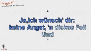 Sarah Connor   Ich Wünsch Dir   Instrumental Und Karaoke  By Rolf Rattay