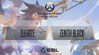 Overwatch - eLevate vs Zenith Black - Atlantic Showdown NA Qualifier #1 - Ro128