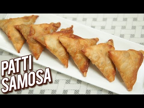 Download Crispy Patti Samosa Recipe - How To Make Poha Onion Patti Samosa - Snack Recipe - Ruchi HD Mp4 3GP Video and MP3