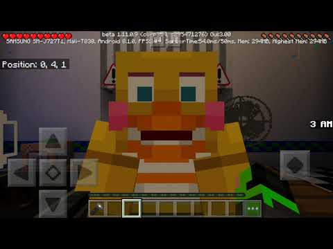 Minecraft PE The Dany Fazbear Brand New FNAF 1 map! Part 1