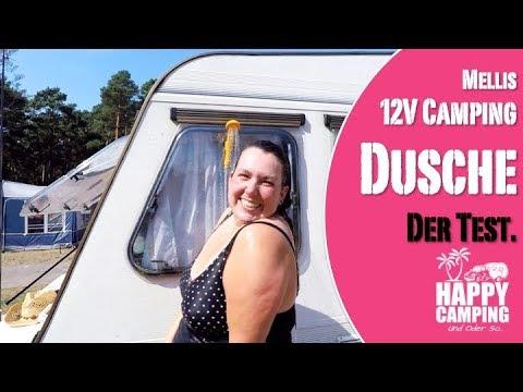Melli stellt die Deuba 12V Camping Dusche vor | HAPPY CAMPING