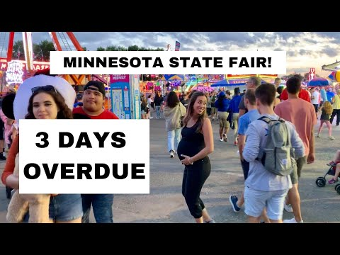 MN STATE FAIR! 40.5 WEEKS PREGNANT VLOG! MY WATER COULD HAVE BROKE!
