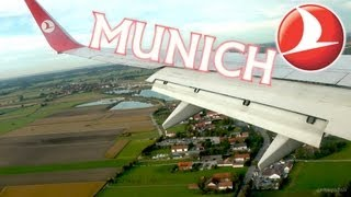 preview picture of video 'AWESOME Munich Landing with City View (HD) Münih Şehir Manzarası ve İnişi'