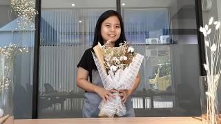 ONE STORY | CARA MERANGKAI BUNGA KERING / HOW TO MAKE DRIED FLOWER BOUQUET / DIY DRIED FLOWERS