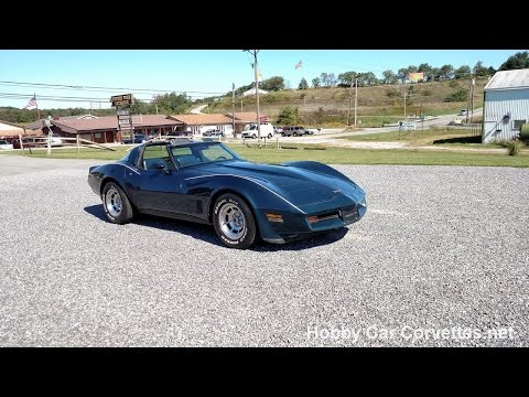 1981 Dark Blue Corvette T Top Blue Int Video