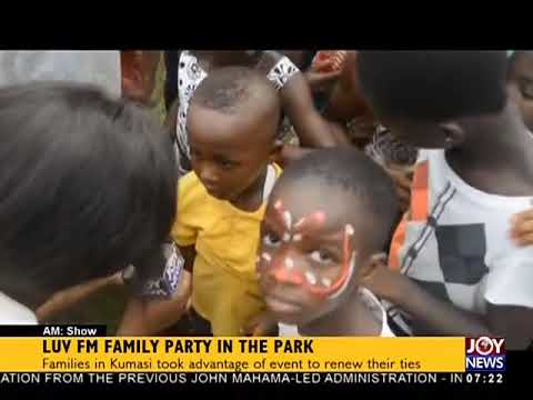 Luv FM Family Party In The Park - AM Show on JoyNews (3-4-18)