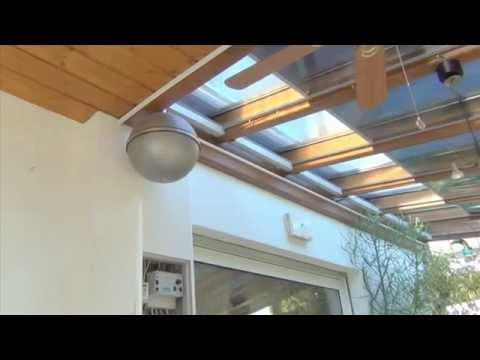 Video Wintergarten Sonnenschutz innen oder aussen inkl. Wärmeschutz als  Beschattung innen