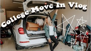 COLLEGE MOVE IN DAY VLOG 2018