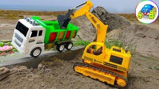 Excavator, Crocodile, Dump Truck, Tipper Truck - Car Toys Kid | Kid Studio