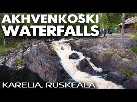 Рускеальские водопады Ахвенкоски / Карелия путешествия туризм