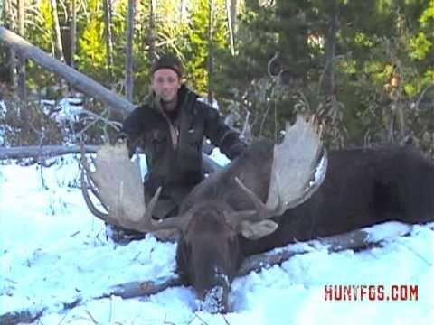 Swedish moose hunter in British Columbia Canada
