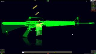 How Does Work M16A1 Assault Rife In 3D Animation