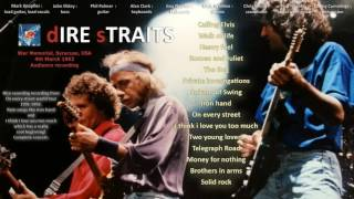 Iron hand — Dire Straits 1992 Syracuse LIVE [audio only]