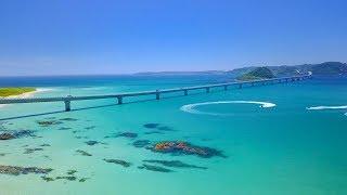 [4KUHD]夏の絶景山口県角島大橋と周辺海岸TsunoshimaBridge&thesurroundingcoastsAERIALDRONEShot