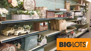 BIG LOTS FALL DECOR HARVEST HOME DECOR DECORATIONS BIGLOTS SHOP WITH ME SHOPPING STORE WALK THROUGH