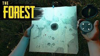 How to GET THE MAP & COMPASS! The Forest Tutorial