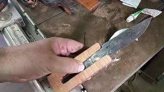 Three Piece Morticed tang handle