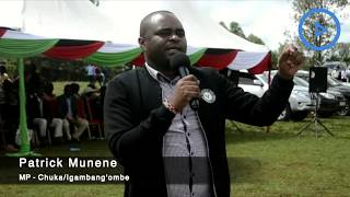 Chuka/Igambang'ombe MP Munene urges politicians in Tharaka-Nithi to