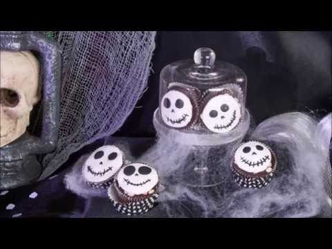 Skeletten cupcakes Halloweenrecept