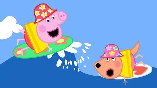 Peppa Pig Full Episodes - Surfing - Cartoons for Children